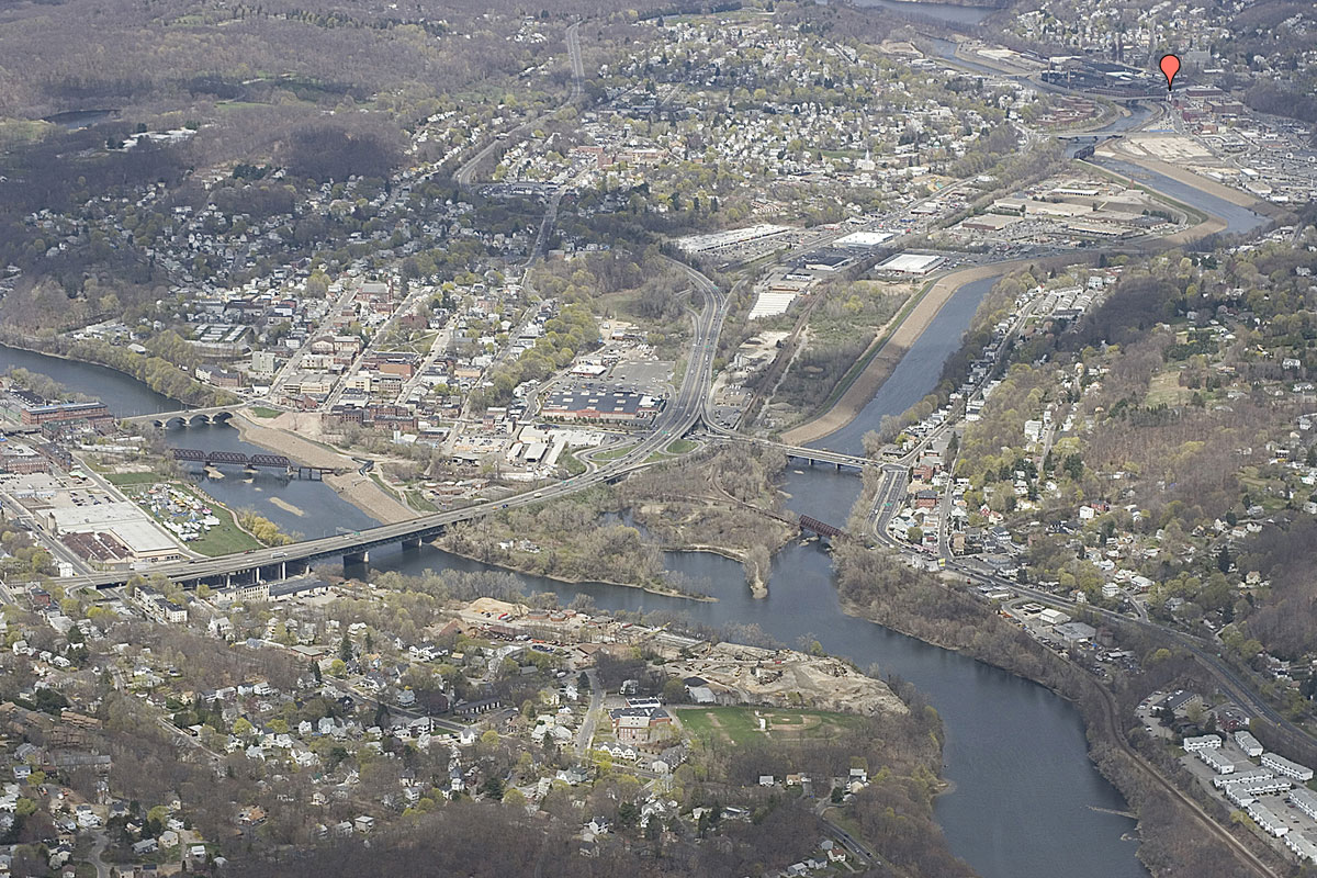 Aerial View of the Naugatuck Valley